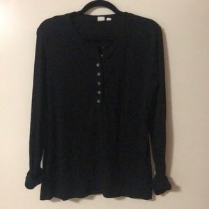 Women's GAP long sleeve Henley top size L